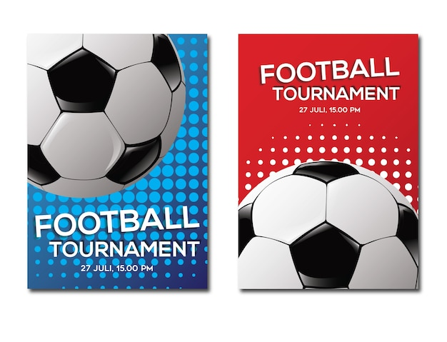 Footbal tournament template background