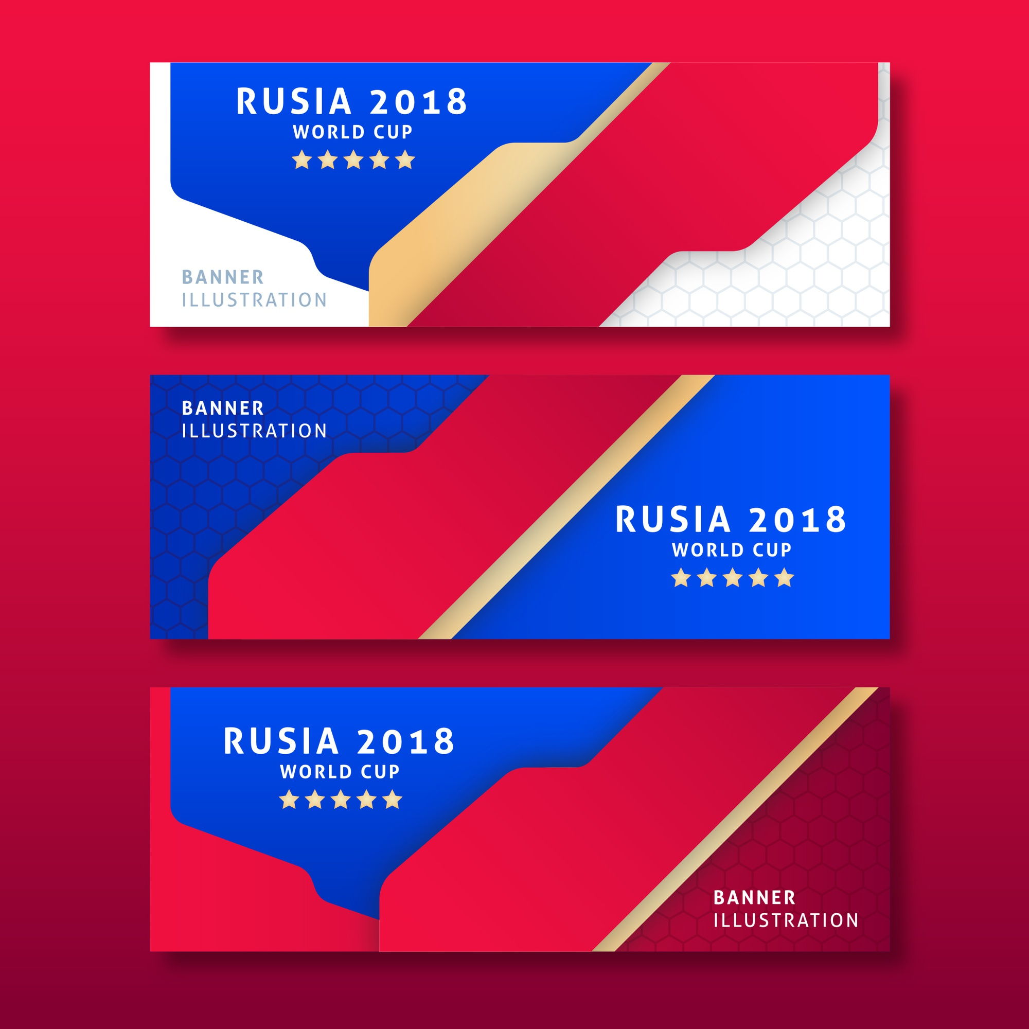Football 2018 world championship cup banner soccer