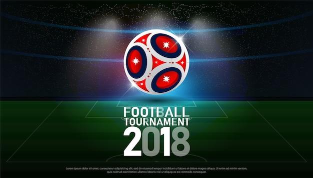 サッカー2018世界選手権カップサッカー放送グラフィックテンプレート