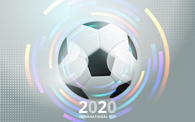 Football 2020 world championship cup background soccer