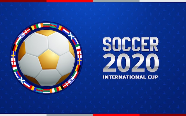 Football 2020 world championship cup background soccer.