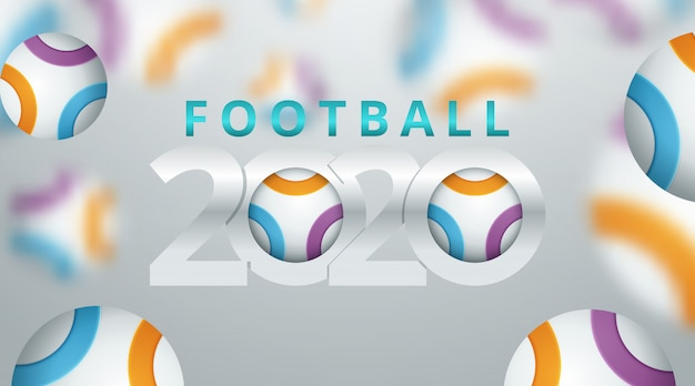 Football 2020 world championship cup background