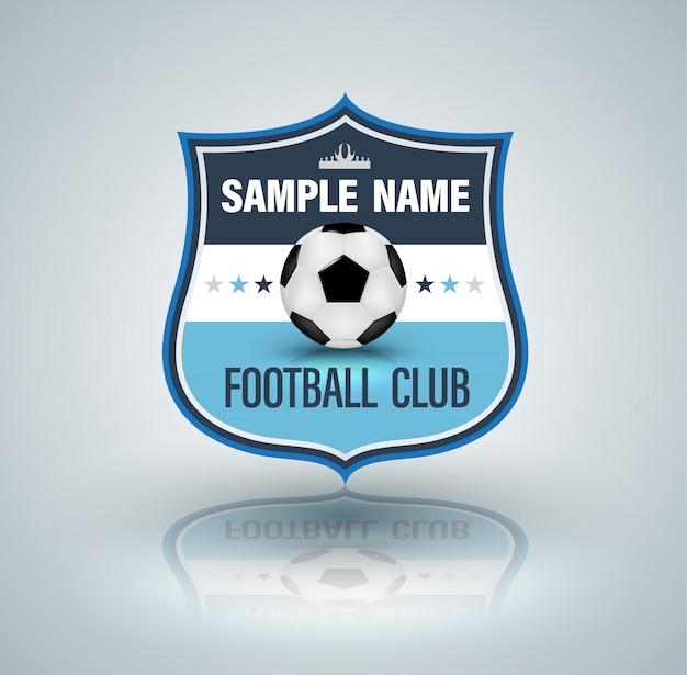 サッカーとサッカーカレッジのベクトルロゴ。
