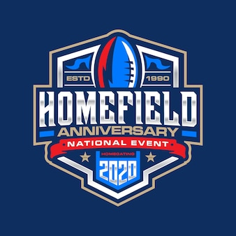 Football anniversary logo template