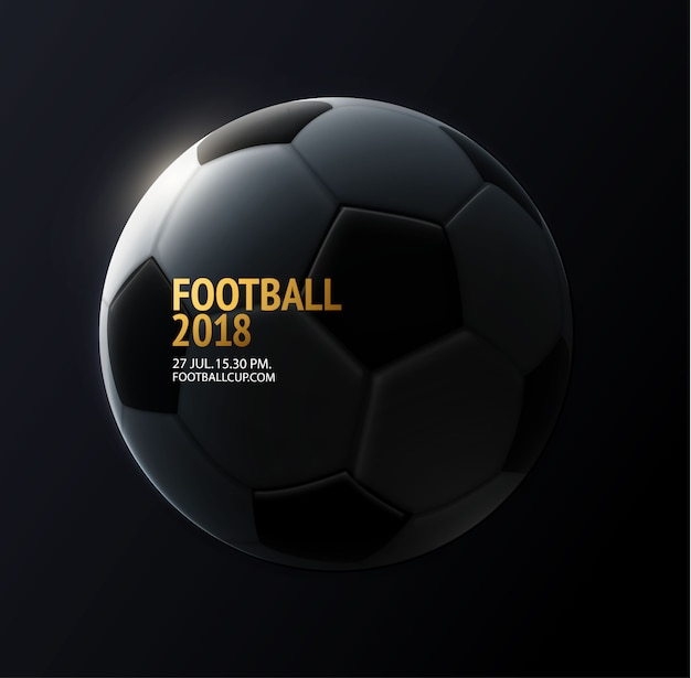 Football background with text