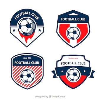 Football badges set Free Vector