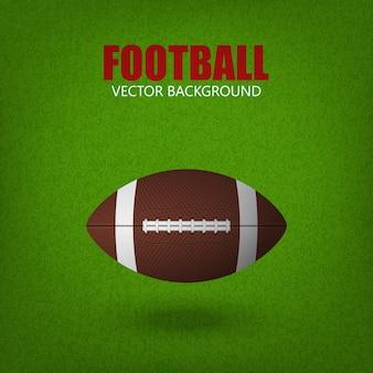 Football ball on a grass field.
