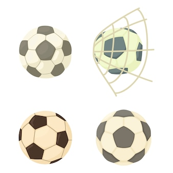 Football ball icon set