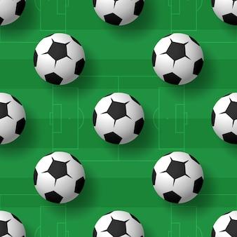 Футбольные мячи бесшовный фон фон