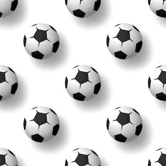 Футбольные мячи бесшовный фон