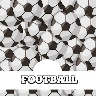Football balls sport background design