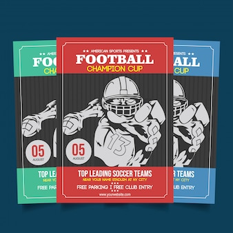 Football champion cup flyer template