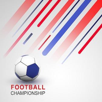 フットボール選手権バナーまたはポスターデザイン