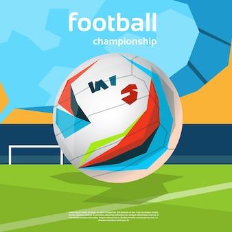 サッカー選手権カラフルバナー