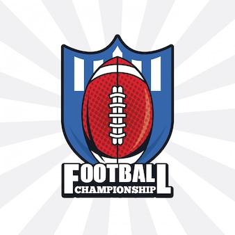 サッカー選手権のアイコン Premiumベクター