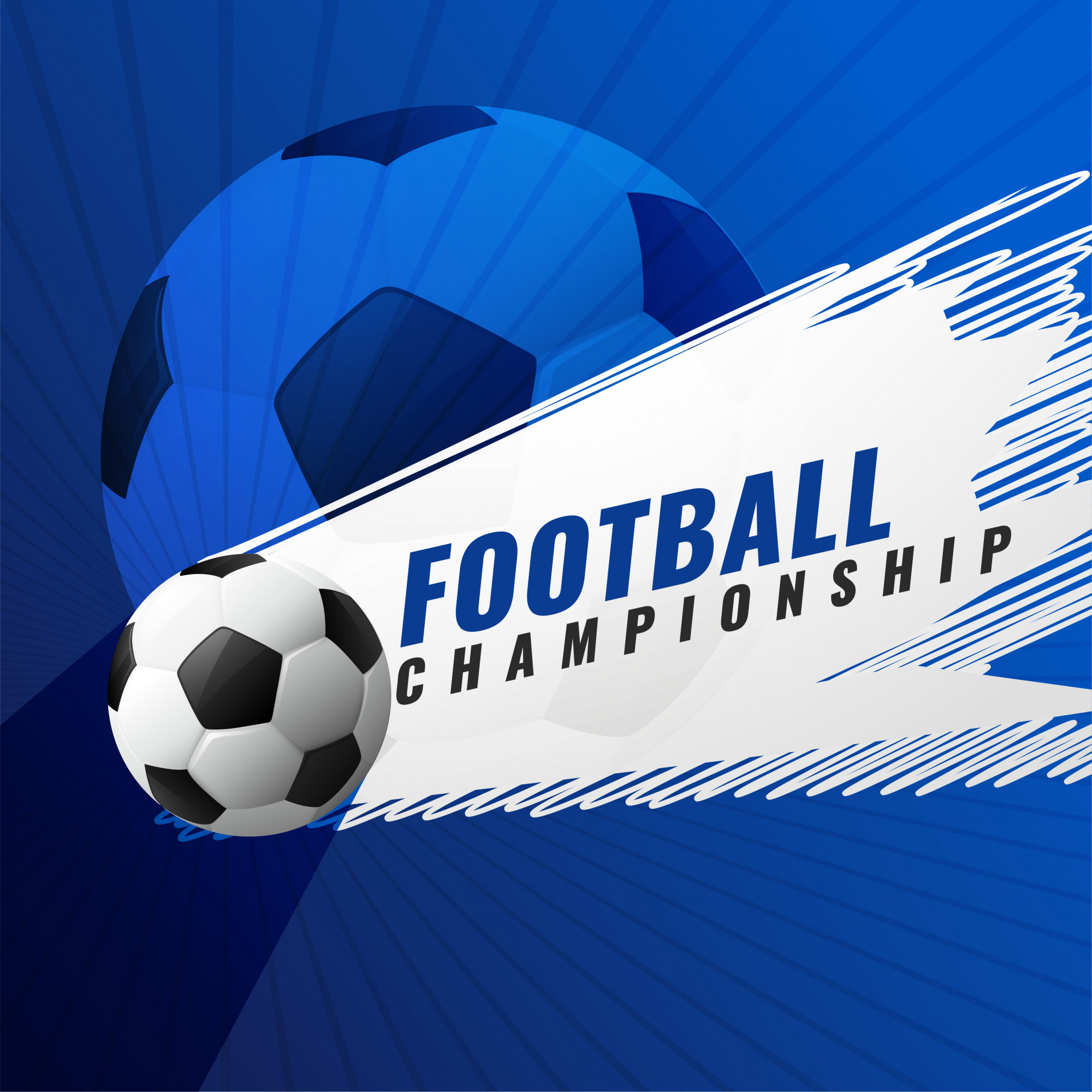 Football championship tournament game  background