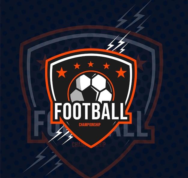 축구 챔피언십 로고 템플릿