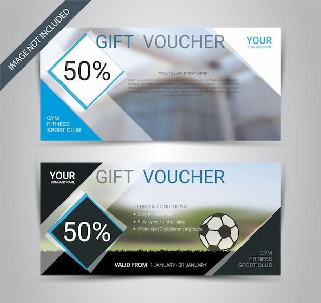 Football club gift voucher card