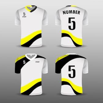 Football club t-shirt sport set design .
