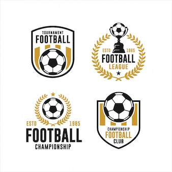 Football club tournament logo collection