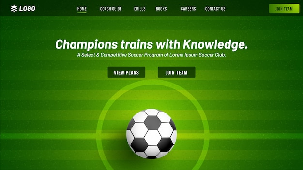 Football club website.
