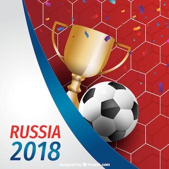 現実的なスタイルのサッカーカップの背景