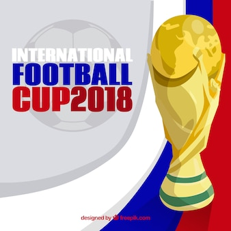 Football cup background with trophy