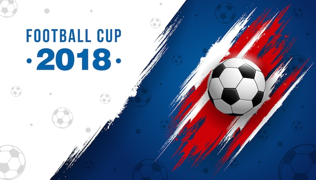 Football cup championship with ball background soccer