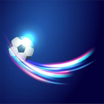 Чемпионат кубка по футболу со светящимся фоном Premium векторы