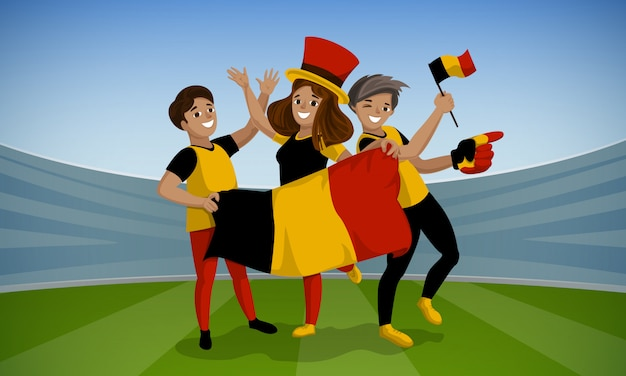 Football day concept background. cartoon illustration of football day