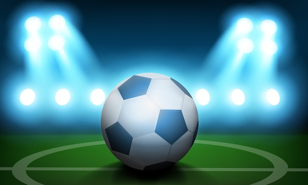 Football day concept background. realistic illustration of football day vector concept background for web design