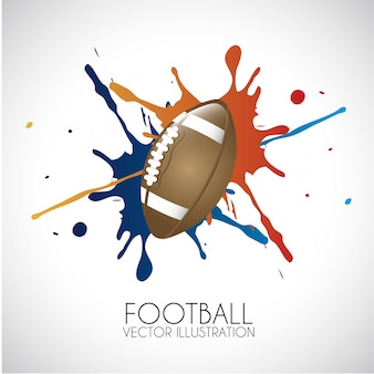 Football design over gray background vector illustration