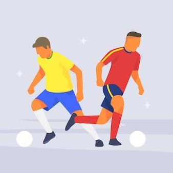 Football dribbling soccer ball