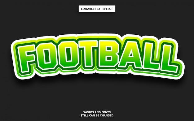 Football editable text style