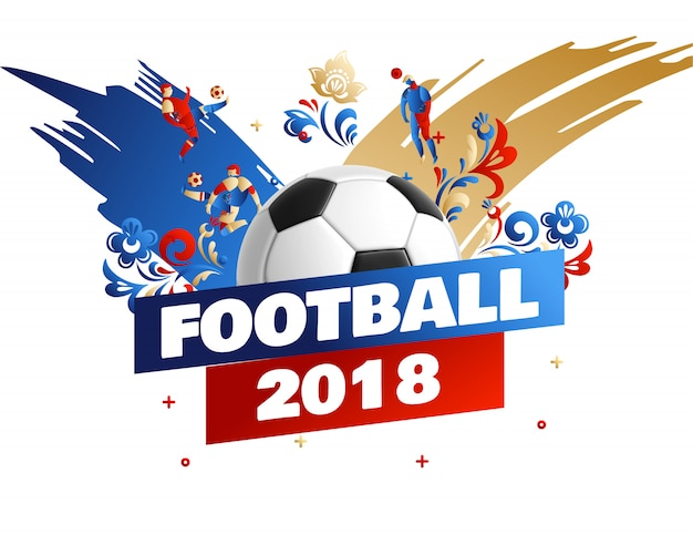 Football emblem place for text 2018