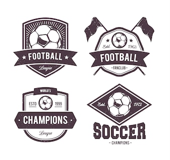 Football emblems collection