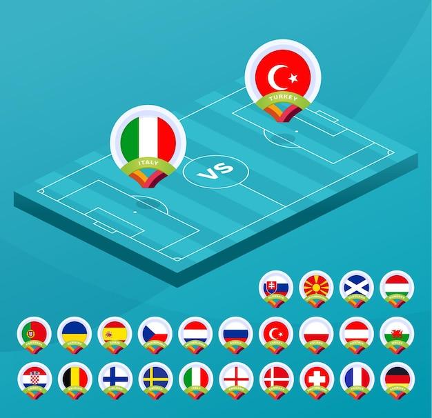 Изометрический матч чемпионата европы по футболу против команд