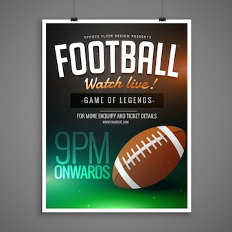 Football event card template