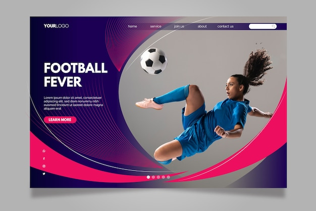 Football fever landing page