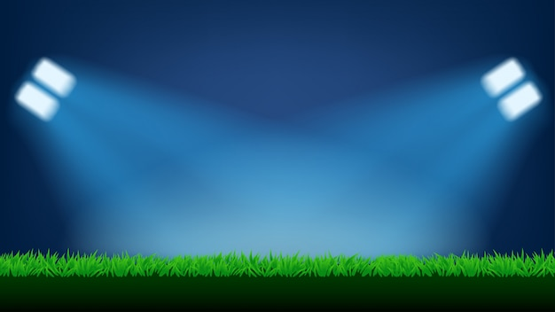 Football field light Premium Vector