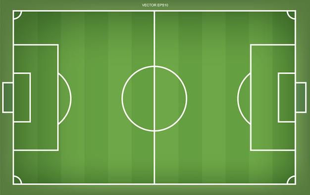 サッカー場またはサッカー場の背景