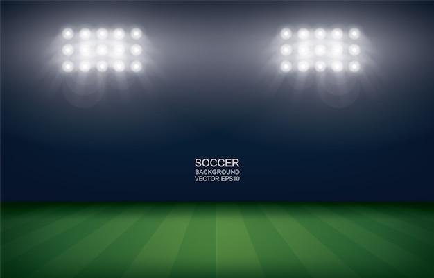 Football field or soccer field stadium background.