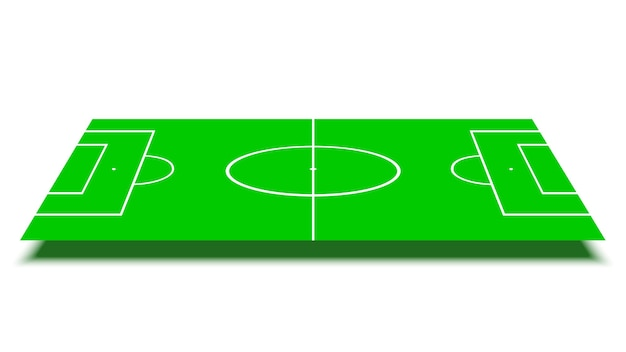 Football field on white background.