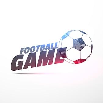 Sfondo vettoriale di gioco del calcio con effetto di luce