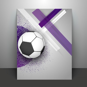 Football on glossy abstract background.
