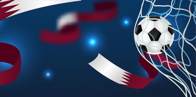 サッカーゴールデザインウィットぼやけた背景イラストテンプレート