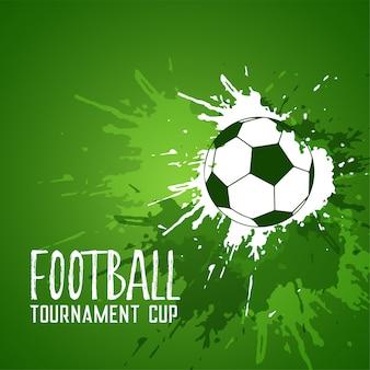 Football grunge green ink splatter background