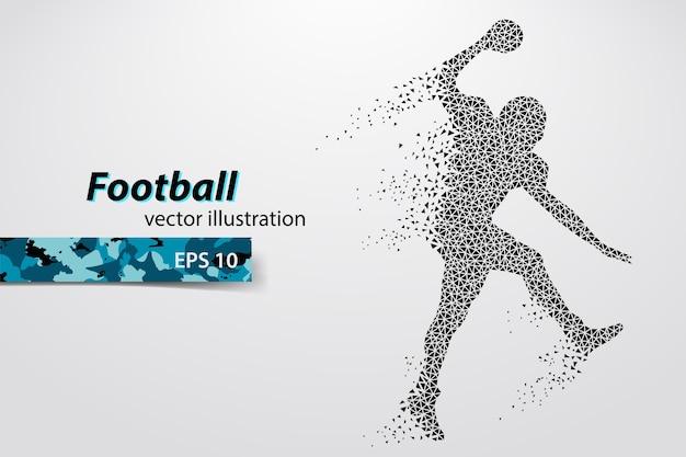 Football helmet and hand silhouette