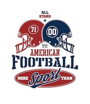 Football helmet stylized vector illustration