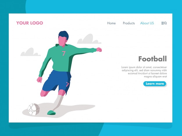 Football illustration for landing page